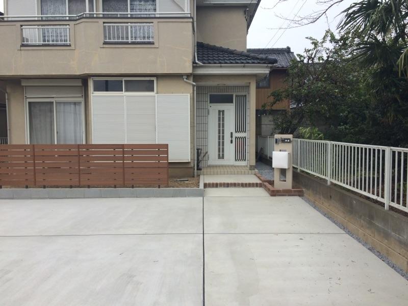 車庫スペースから門廻りを外構リフォーム~加須市